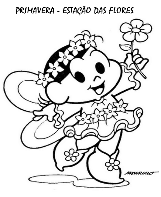 desenho de primavera para colorir