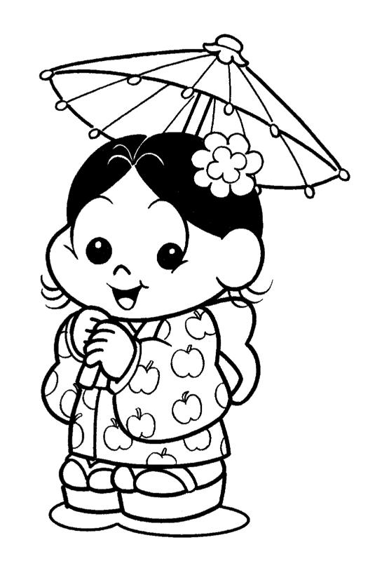 magali japonesa para pintar