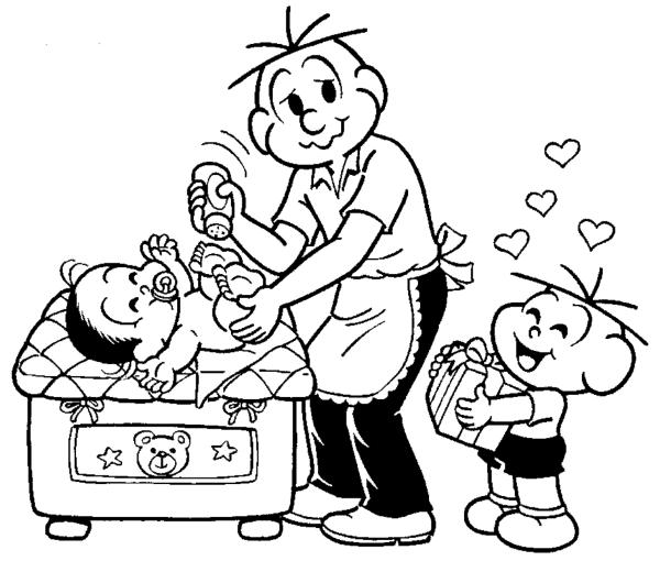 família para colorir