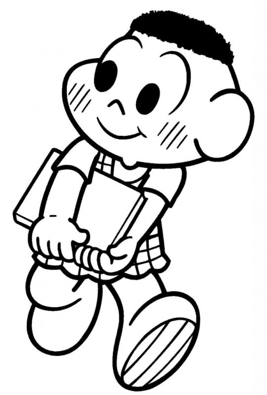desenho simples do cascão