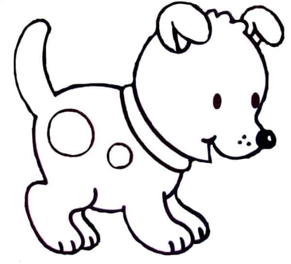 Cachorro para colorir pequenino