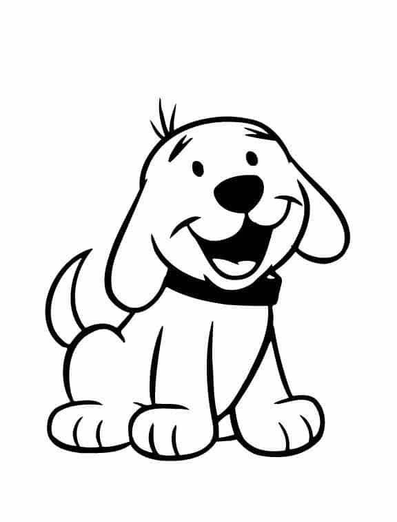 Cachorrinho para imprimir e colorir