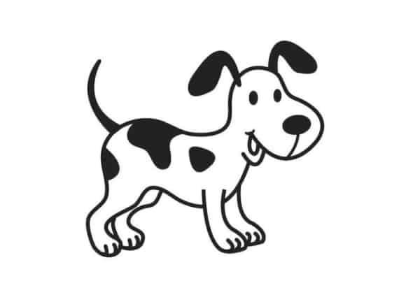 Cachorro com pintas para colorir