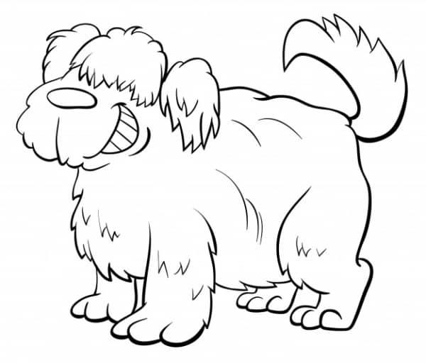 Cachorro divertido para imprimir e colorir