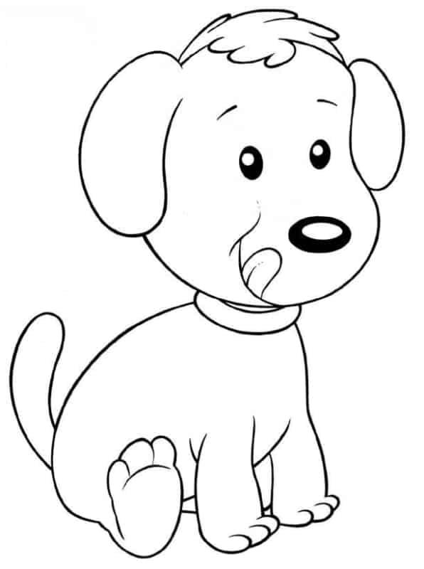 Cachorro fofinho para colorir