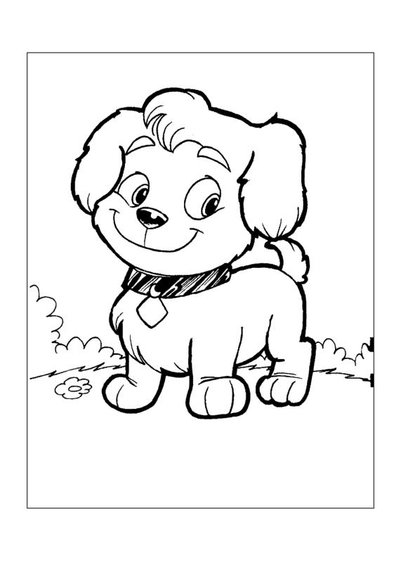 Cachorro pequeno para colorir