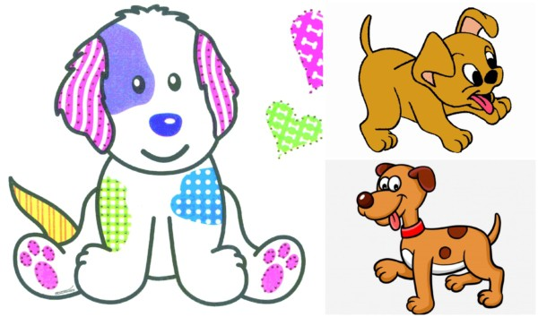 Cachorros coloridos