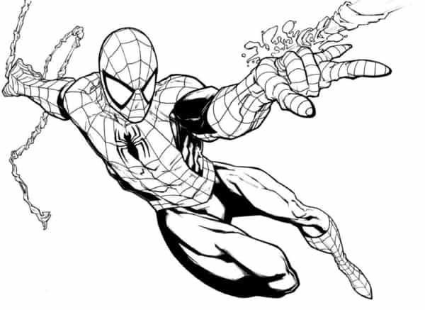 Homem Aranha atacando