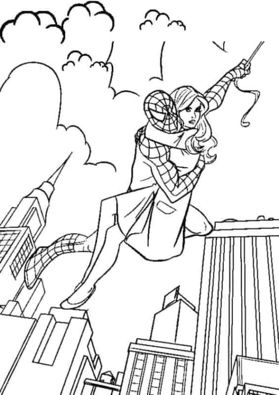 Homem Aranha e Mary Jane