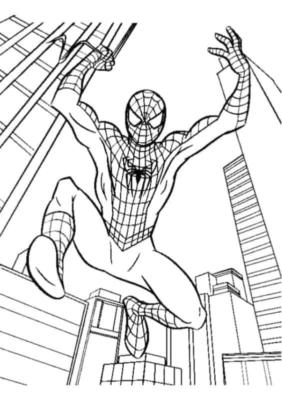 Homem Aranha entre os prédios