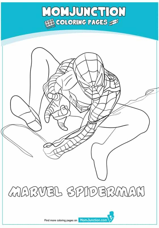 Homem Aranha para colorir passo a passo