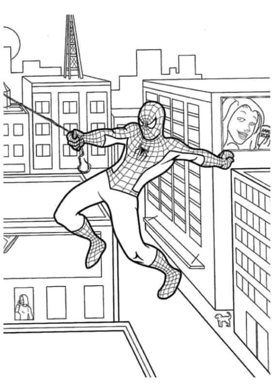 Homem Aranha pendurado