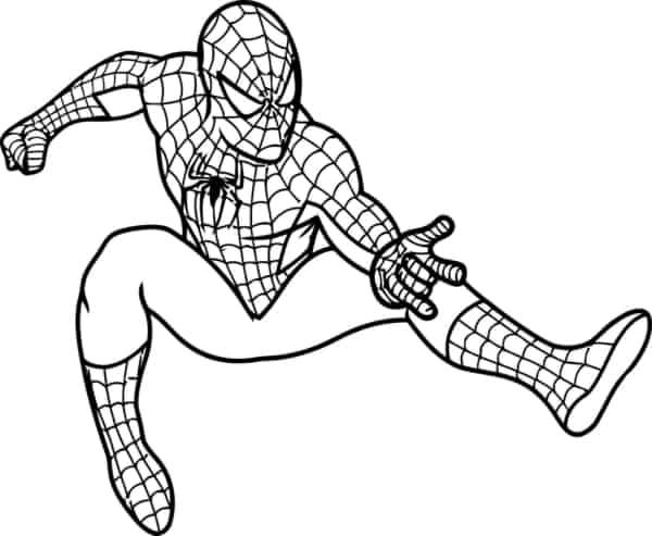 Homem Aranha pulando