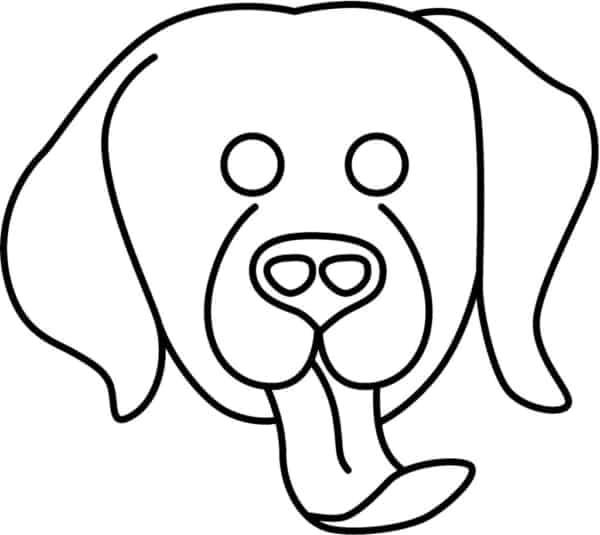 Máscara de cachorro para colorir