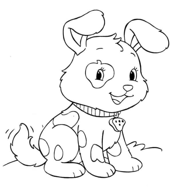 Modelo de cachorro para colorir
