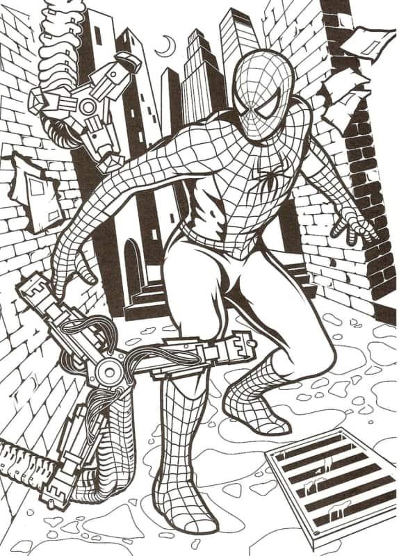 desenho detalhado do Homem Aranha