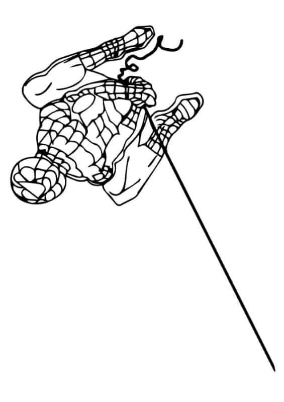 desenho do Homem Aranha na teia