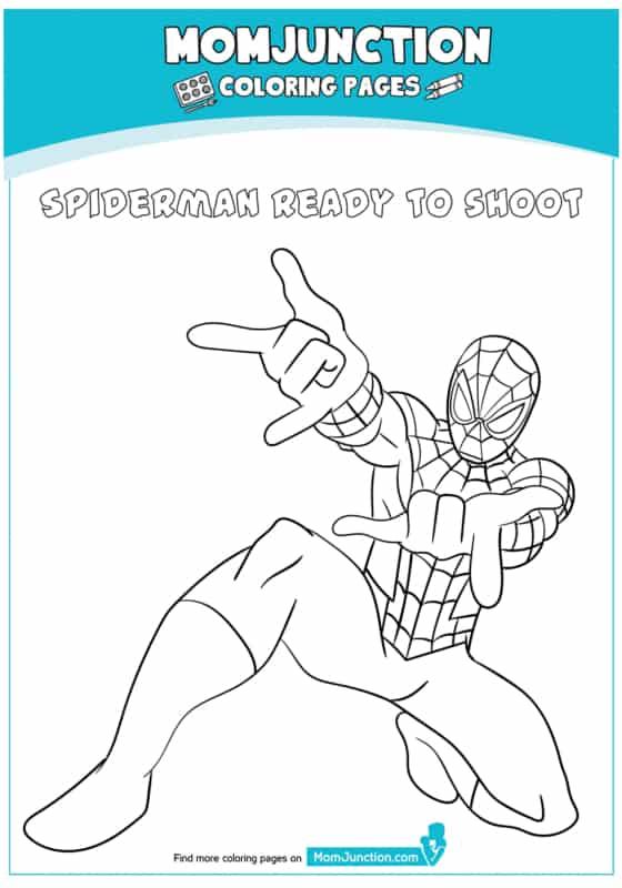 desenho do Homem Aranha soltando teia