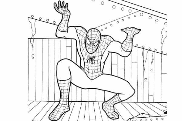 desenho do Homem Aranha
