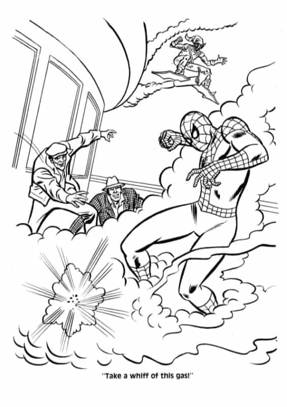 desenho grande do Homem Aranha