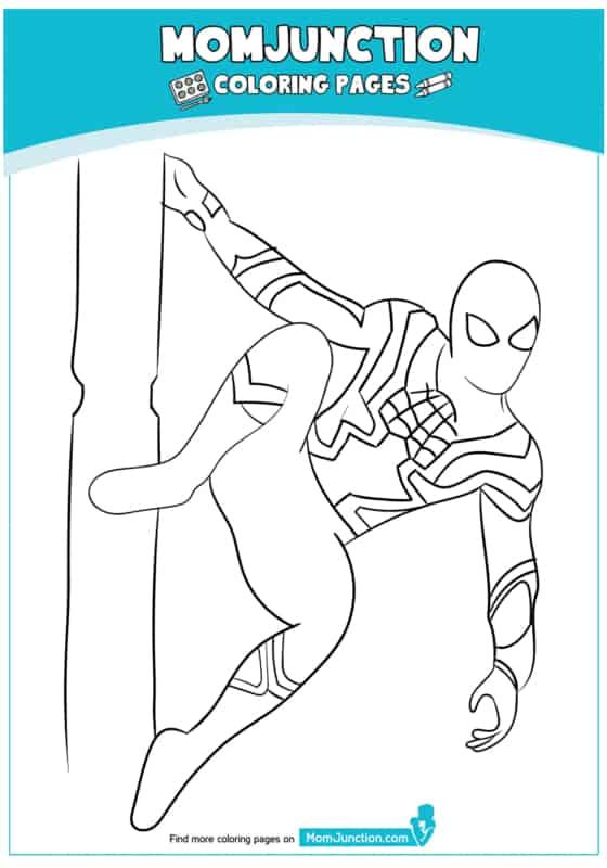 desenho simples do Homem Aranha