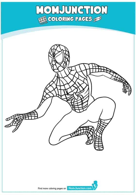 imagem do Homem Aranha para colorir