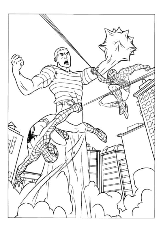 imagem do Homem Aranha para pintar