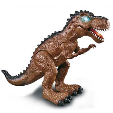 brinquedo de tiranossauro com luz