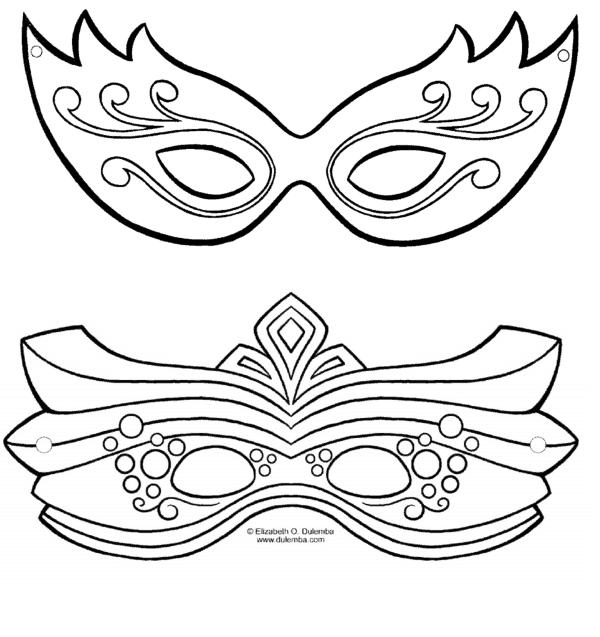 modelos de máscara de carnaval para imprimir