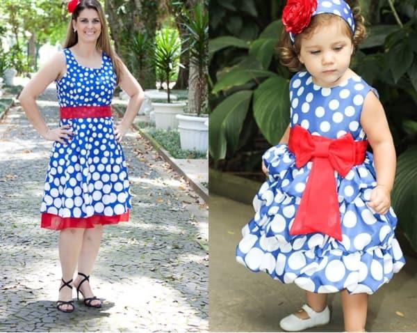vestido igual mãe e filha para festa de aniversário