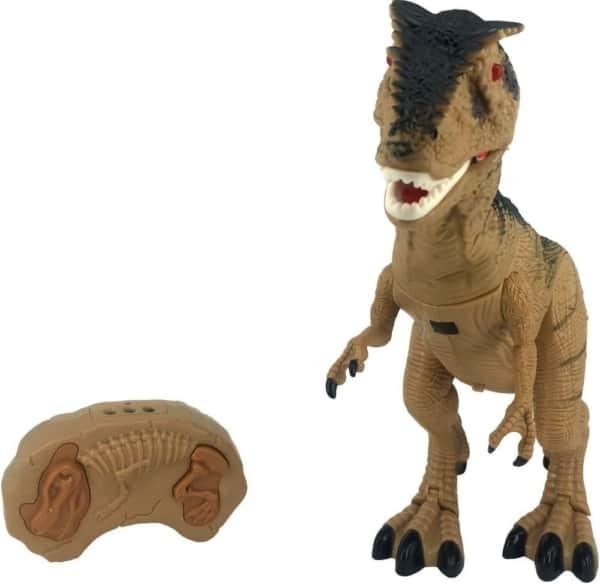 dinossauro com sons e controle remoto