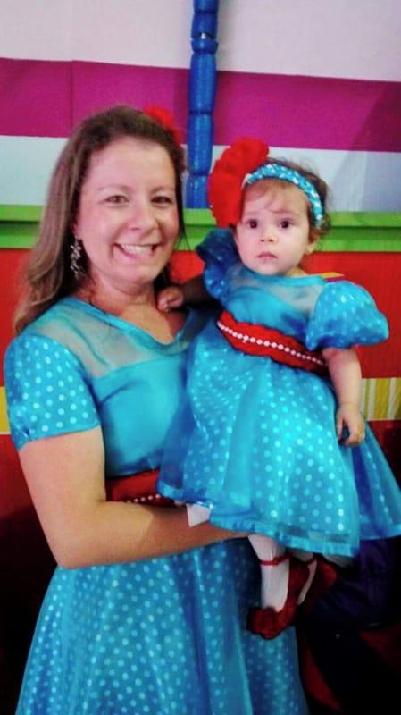 vestido galinha pintadinha feminino e infantil