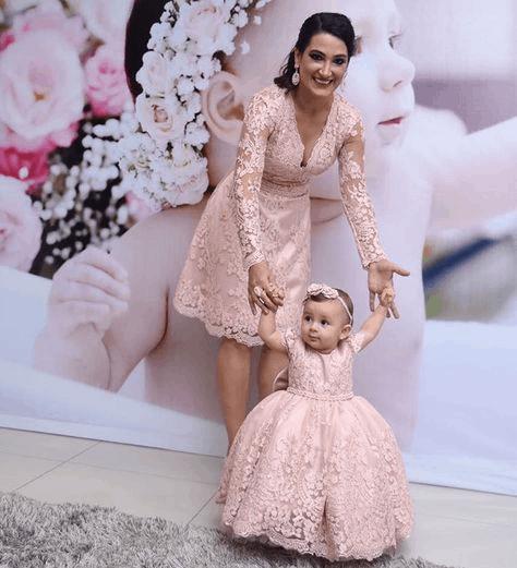 vestido mãe e filha para aniversário de 1 ano