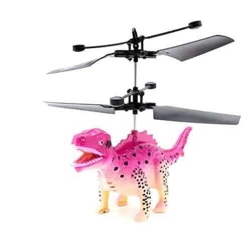 mini avião de dinossauro com controle remoto