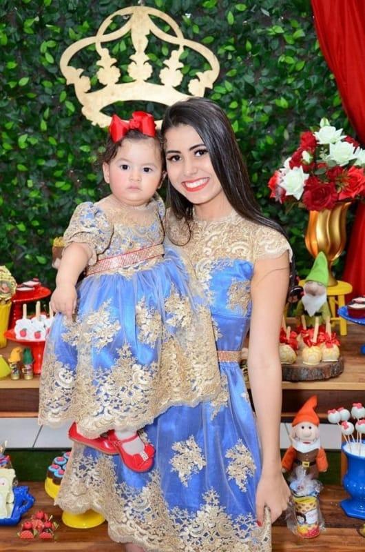 vestido princesa para mãe e filha