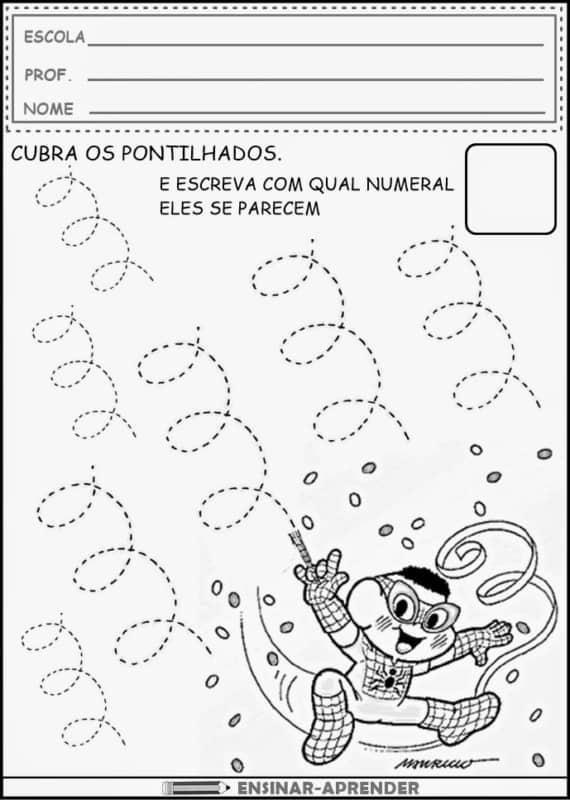 atividade infantil para aprender números