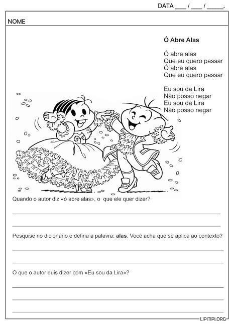 atividade infantil com uso do dicionário