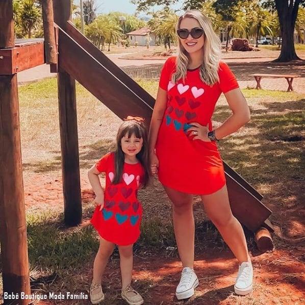 look simples mãe e filha