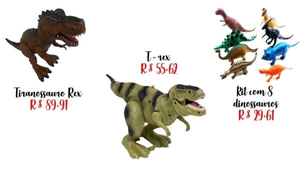 modelos de brinquedo de dinossauro