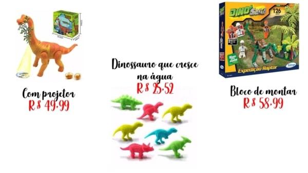 modelos e preços de brinquedo de dinossauro