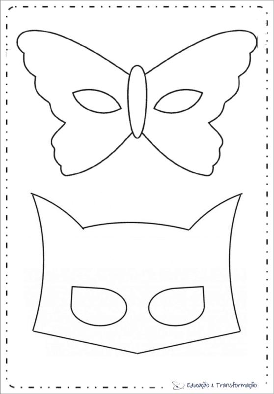 máscaras de carnaval para imprimir para as crianças