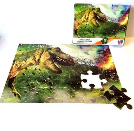 quebra cabeça infantil de tiranossauro rex