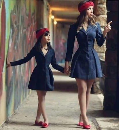 look igual jeans para mãe e filha