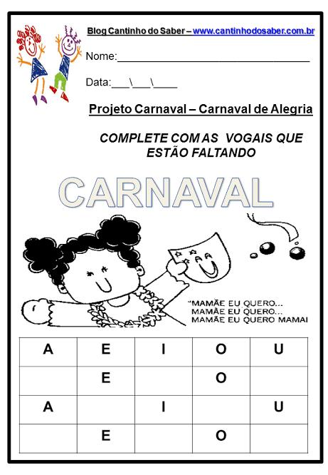 atividade simples para aprender vogais