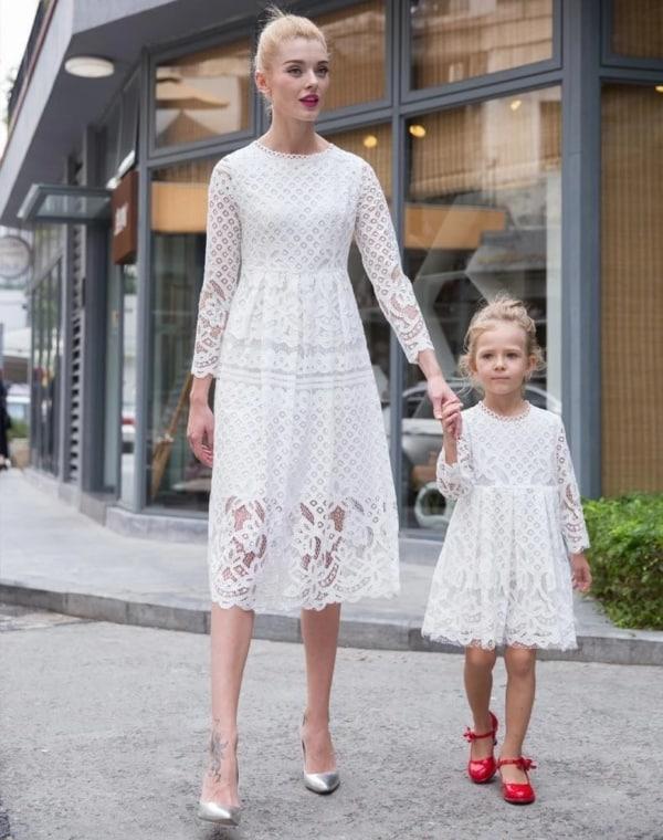 vestido de natal branco