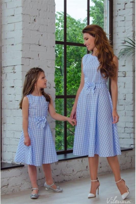 vestido simples para natal mãe e filha