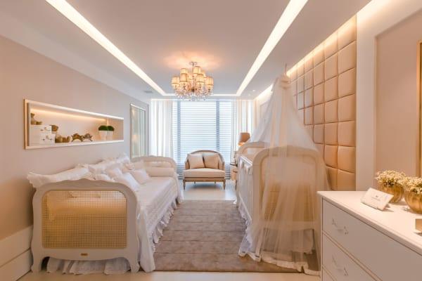 Berço Provençal Branco em quarto
