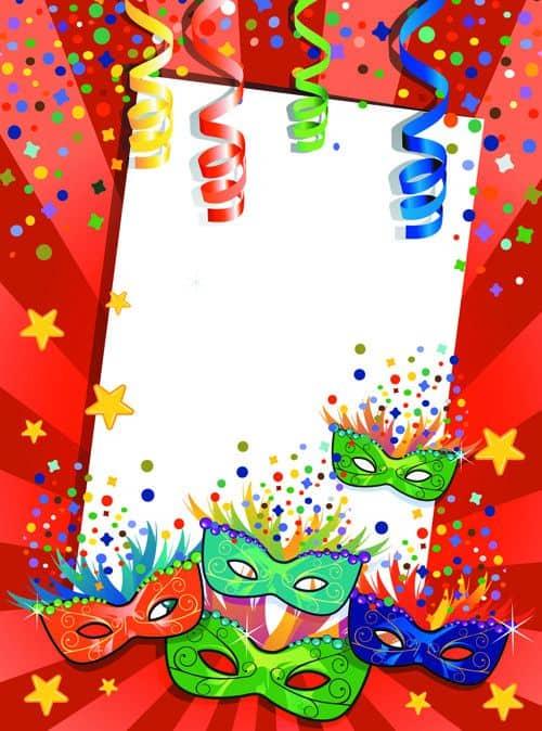 Convite para festa de Carnaval infantil