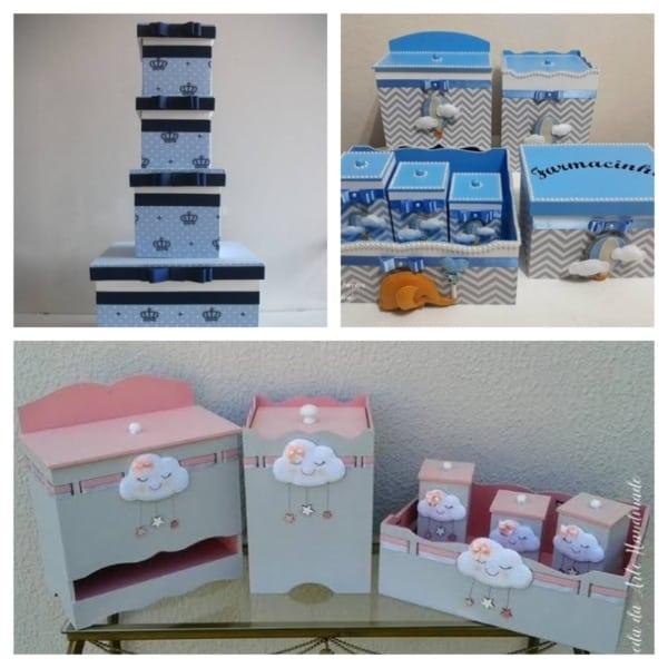 Kit Higiene MDF azul