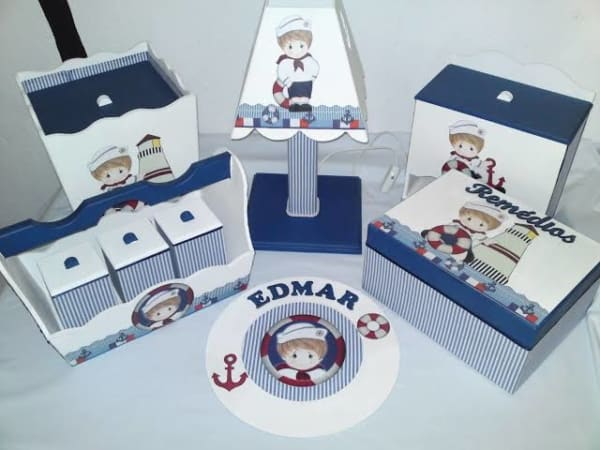 Kit Higiene MDF marinheiro completo